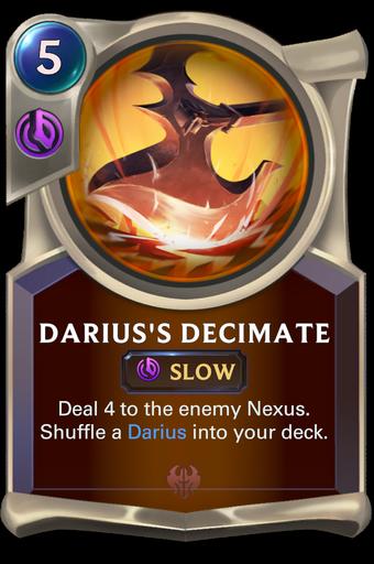 Darius's Decimate Card Image