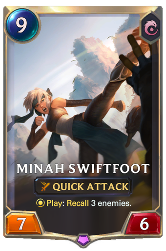 Minah Swiftfoot Card Image