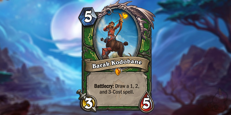 NGA Reveals a New Forged in the Barrens Legendary Hunter Card - Barak Kodobane