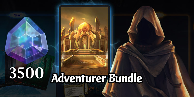 The MTG Arena Adventurer Bundle Features Discounted Gems, A Sleeve, and The Adventurer Avatar for $15
