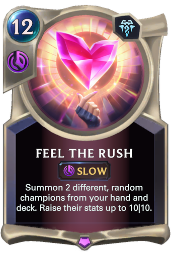 Feel The Rush Card Image