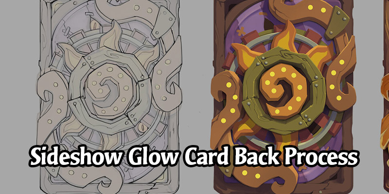 The Concepts and Progress of Hearthstone's Sideshow Glow & N'Zoth Card Backs by Tiffany Chiu