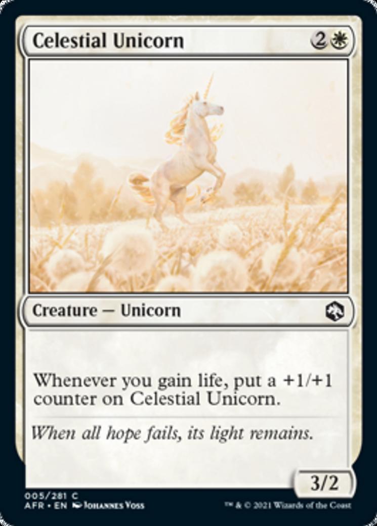 Celestial Unicorn Card Image