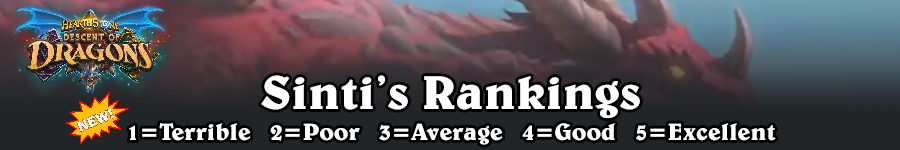 DoD Sinti's Rankings
