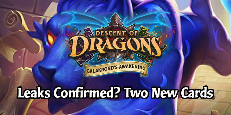 Two New Hearthstone Cards Revealed, Confirming Leaks - Escaped Manasaber & The Fist of Ra-den