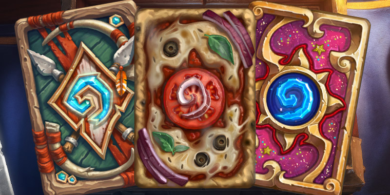 Three Old Card Backs Are Coming Back to Hearthstone in the Future - Darkspear, Pizza Stone, and Sparkles