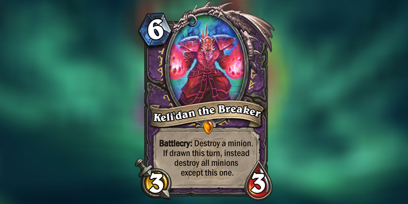 Keli'dan the Breaker is a new Warlock Legendary Revealed for Hearthstone's Ashes of Outland Expansion