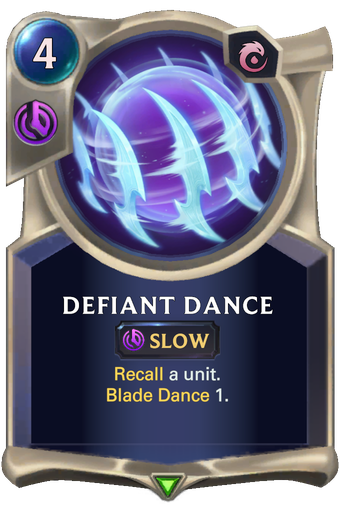 Defiant Dance Card Image