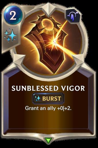 Sunblessed Vigor Card Image
