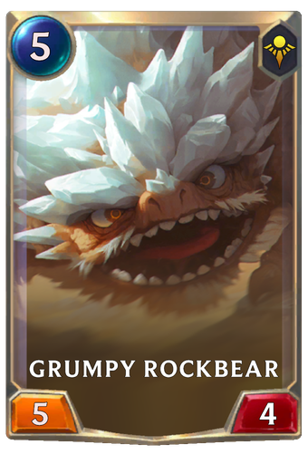 Grumpy Rockbear Card Image