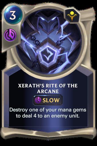 Xerath's Rite of the Arcane Card Image