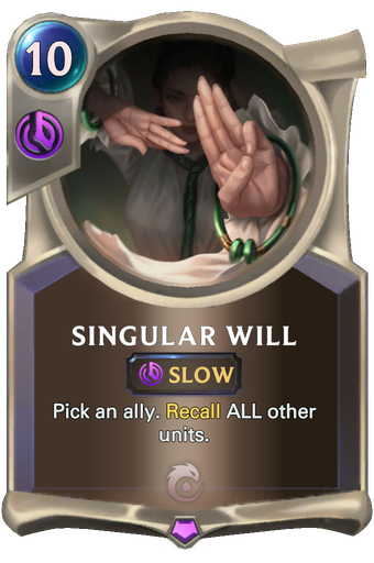Singular Will Card Image