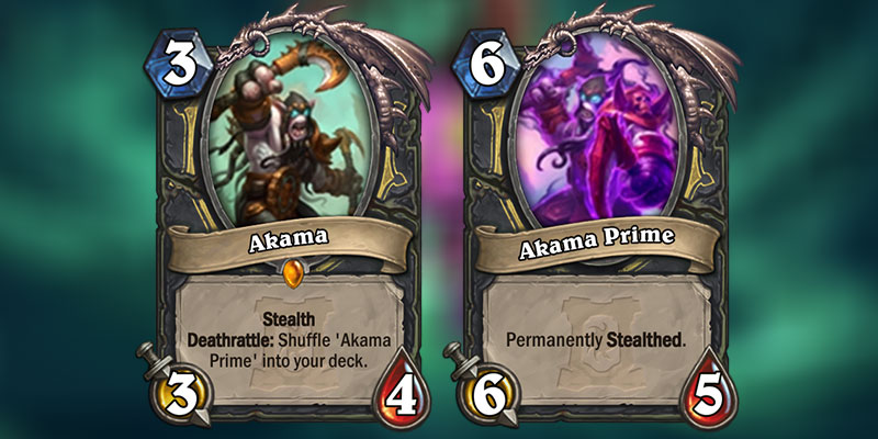 Akama is a new Rogue Legendary Revealed for Hearthstone's Ashes of Outland Expansion