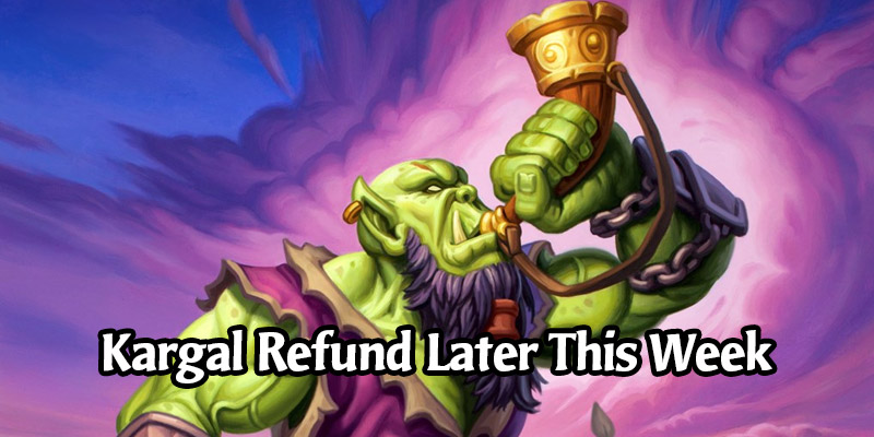 Kargal Battlescar Will Become Eligible for a Full Dust Refund Later This Week