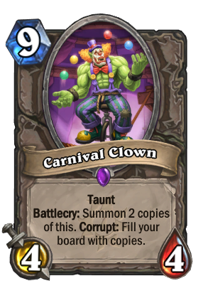 Carnival Clown Card Image