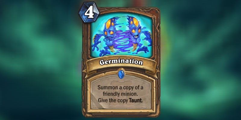 Germination is a new Druid Card Revealed for Hearthstone's Ashes of Outland Expansion