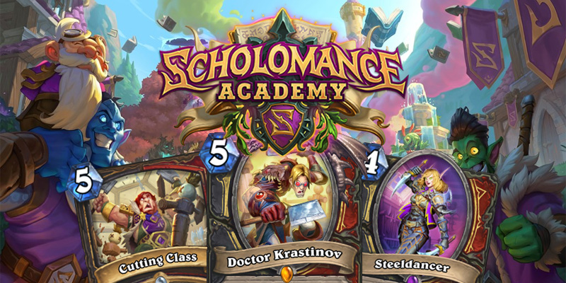 Our Thoughts on Hearthstone's Scholomance Academy Rogue/Warrior Dual Class Cards