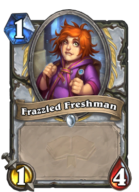 Frazzled Freshman Card Image