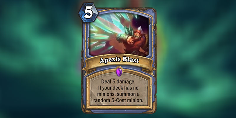 Apexis Blast is a new Mage Spell Revealed for Hearthstone's Ashes of Outland Expansion
