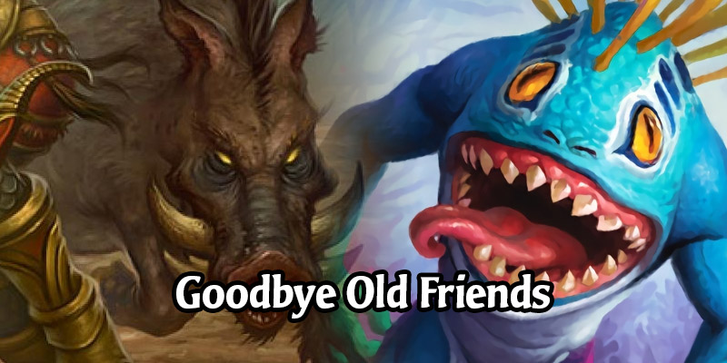 Hearthstone's Stonetusk Boar and Bluegill Warrior are Moving to Wild and Retain Charge - Two New Minions to Replace Them in the Core Set