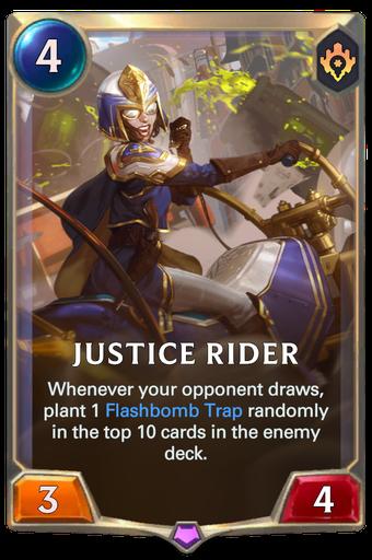 Justice Rider Card Image