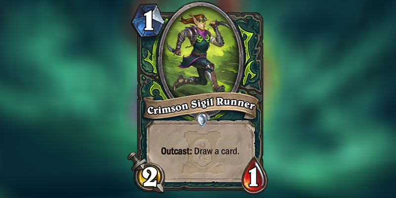Crimson Sigil Runner is a new Demon Hunter Card Revealed for Hearthstone's Ashes of Outland Expansion