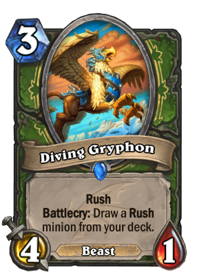 Diving Gryphon Card Image