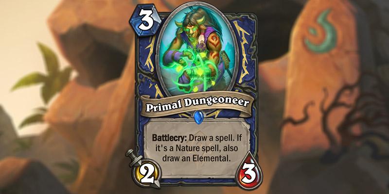 New Barrens Shaman Spell & Elemental Synergy Card - Primal Dungoneer