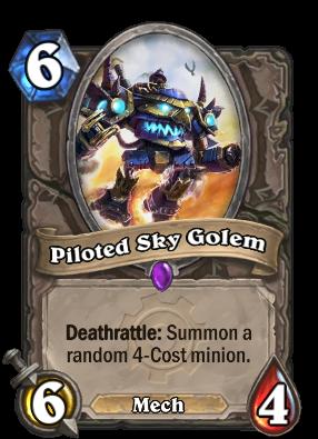 Piloted Sky Golem Card Image