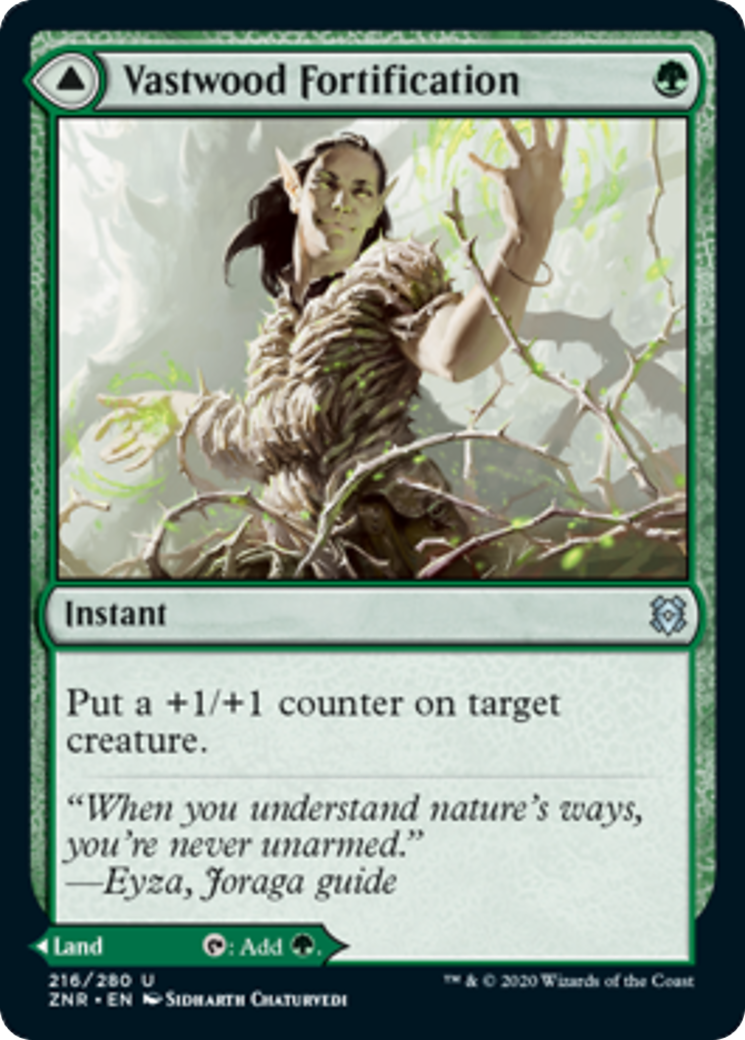 Vastwood Fortification // Vastwood Thicket Card Image
