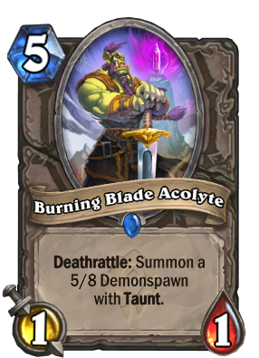 Burning Blade Acolyte Card Image