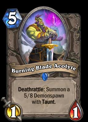 Burning Blade Acolyte Card Image