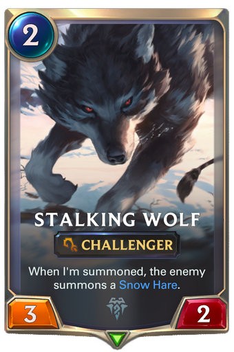 Stalking Wolf Card Image