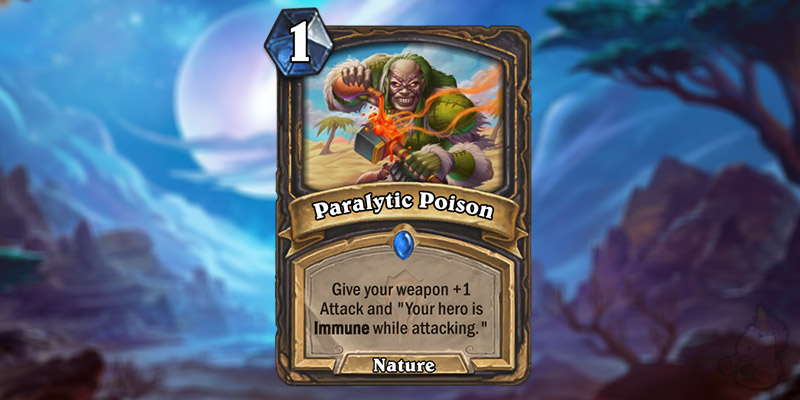 Feelink Reveals a New Forged in the Barrens Rogue Card - Paralytic Poison