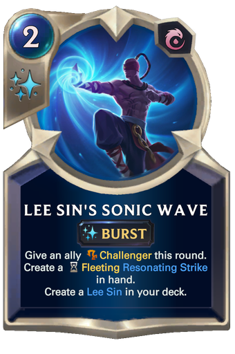 Lee Sin's Sonic Wave Card Image