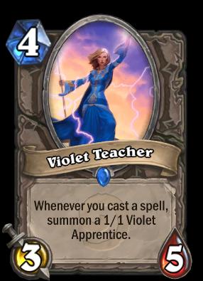 Violet Teacher Card Image