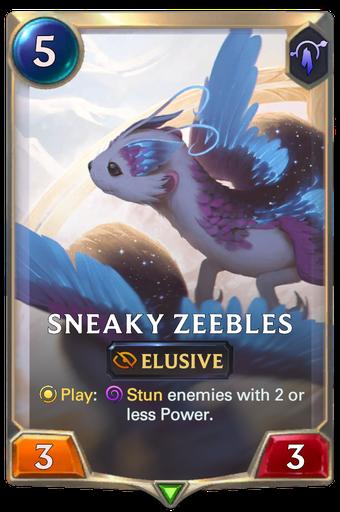 Sneaky Zeebles Card Image