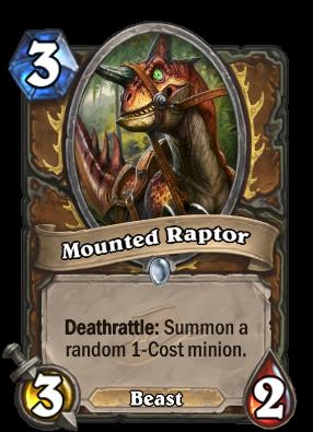 Mounted Raptor Card Image