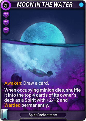 Moon in the Water Card Image