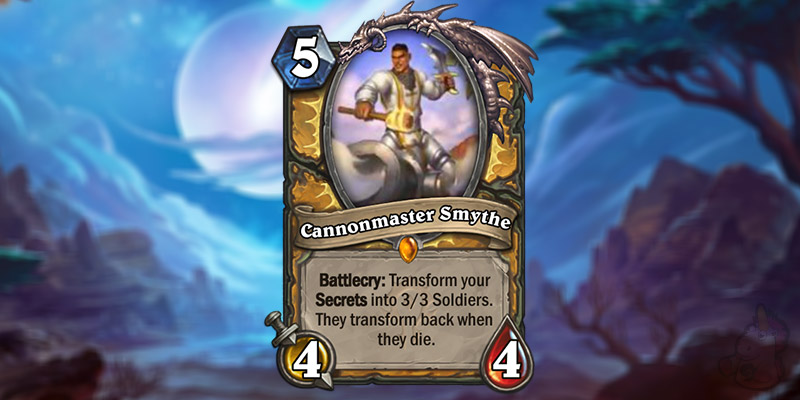 Kripparrian Reveals a New Forged in the Barrens Paladin Legendary - Cannonmaster Smythe