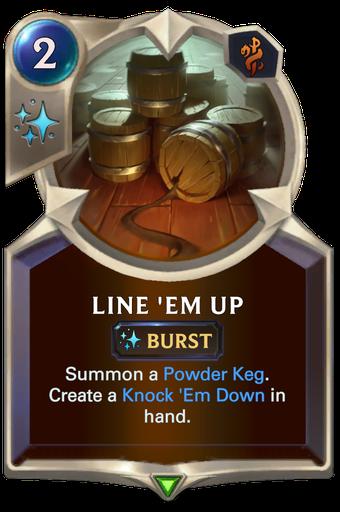 Line 'Em Up Card Image