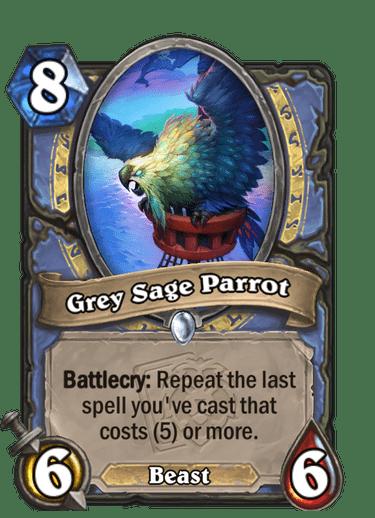 Grey Sage Parrot Card Image