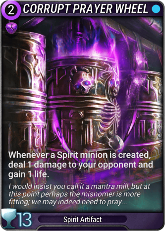 Corrupt Prayer Wheel Card Image
