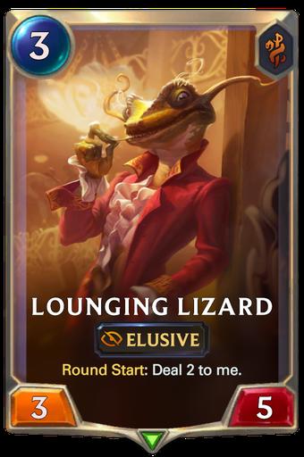 Lounging Lizard Card Image