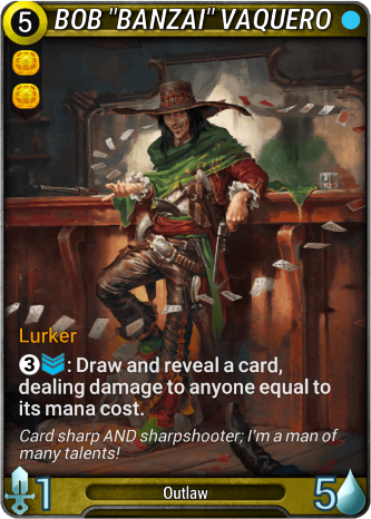 """Bob """"Banzai"""" Vaquero Card Image"""