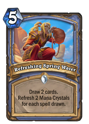 Refreshing Spring Water Card Image