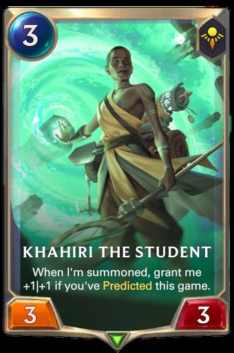 Khahiri the Student Card Image