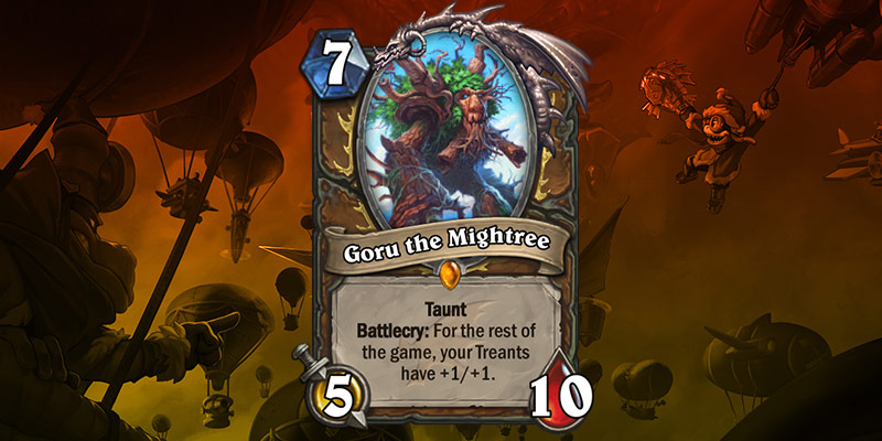Druid Card Reveals - Goru the Mightree & Treenforcements