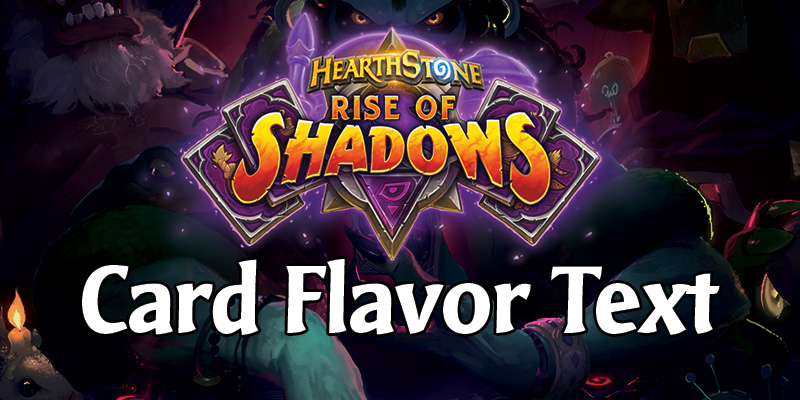 All Rise of Shadows Card Flavor Text