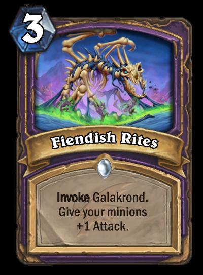Fiendish Rites Card Image